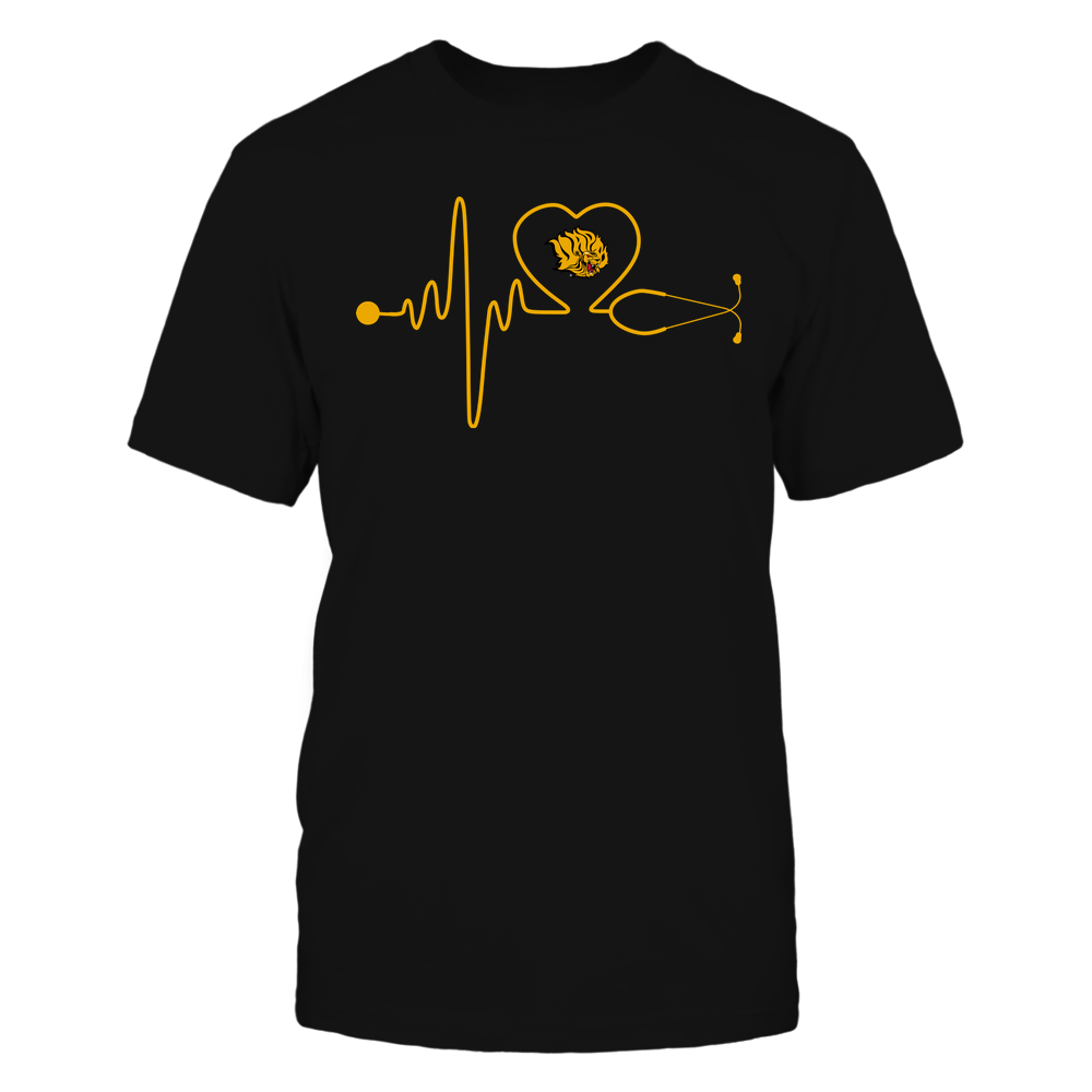 Arkansas Pine Bluff Golden Lions - Nurse - Stethoscope Heartbeat - IF13-IC13-DS37 Front picture