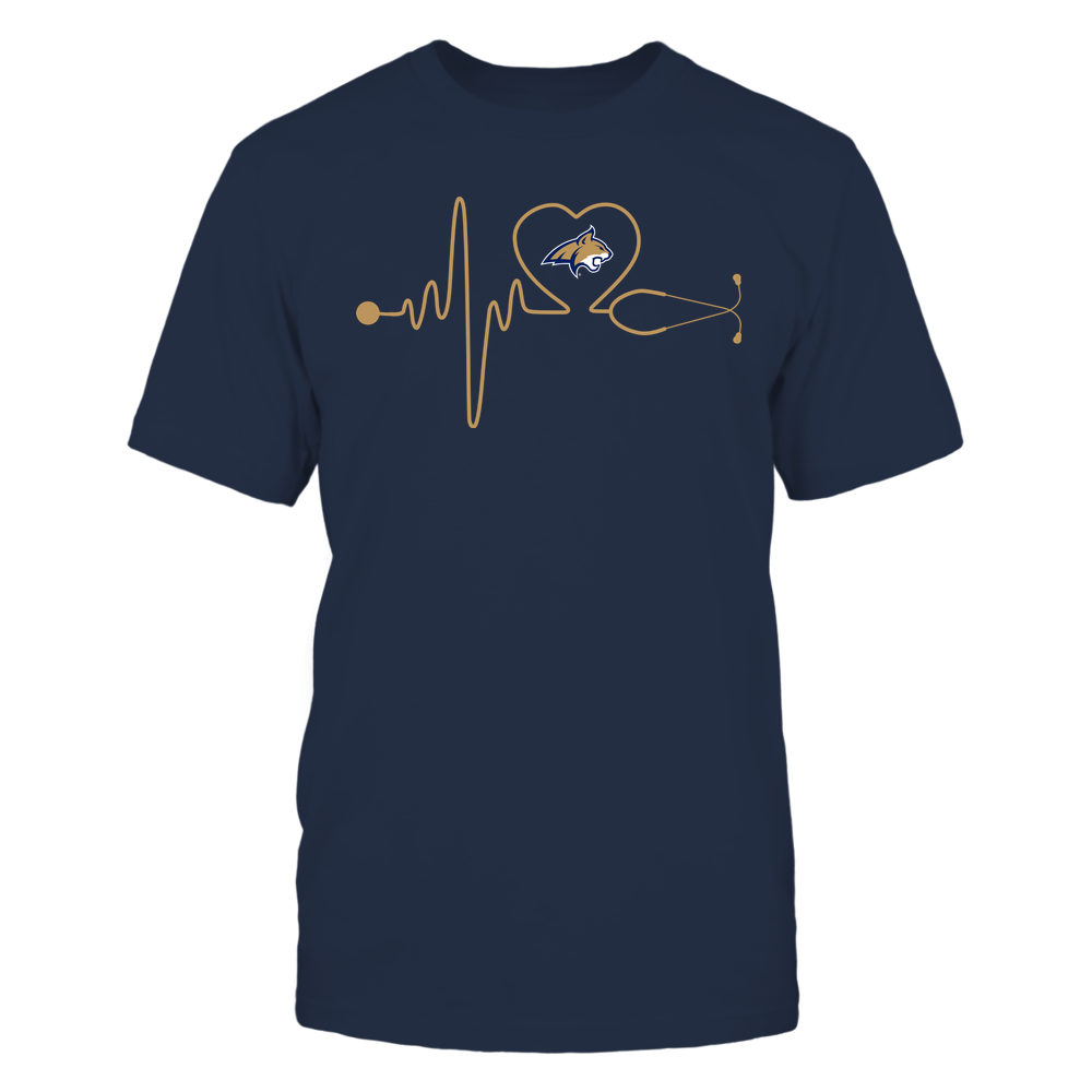 Montana State Bobcats - Nurse - Stethoscope Heartbeat - IF13-IC13-DS37 Front picture