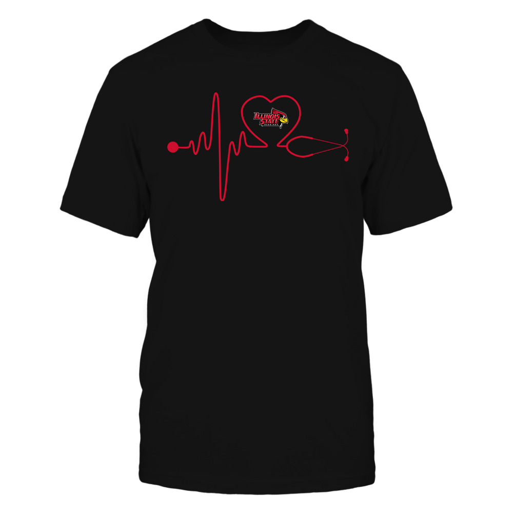 Illinois State Redbirds - Nurse - Stethoscope Heartbeat - IF13-IC13-DS37 Front picture