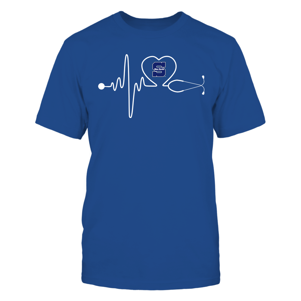 Wisconsin Stout Blue Devils - Nurse - Stethoscope Heartbeat - IF13-IC13-DS37 Front picture