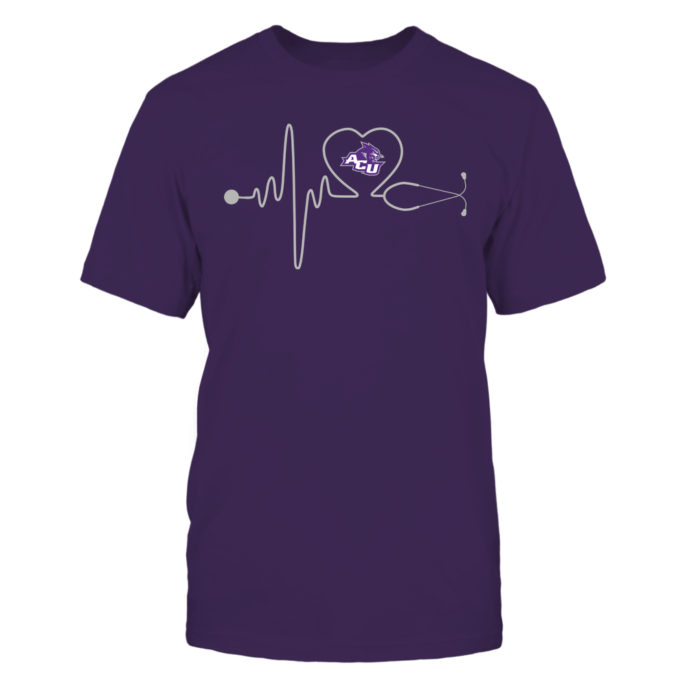 Abilene Christian Wildcats - Nurse - Stethoscope Heartbeat - IF13-IC13-DS37 Front picture