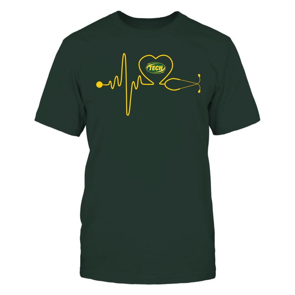 Arkansas Tech Golden Suns - Nurse - Stethoscope Heartbeat - IF13-IC13-DS37 Front picture