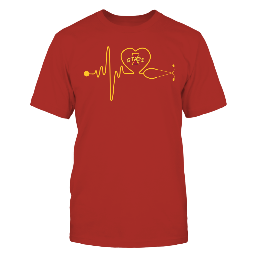 Iowa State Cyclones - Nurse - Stethoscope Heartbeat - IF13-IC13-DS37 Front picture