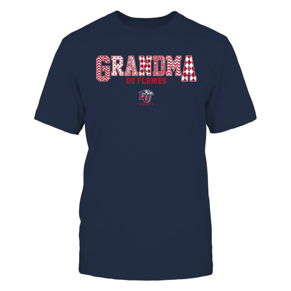 Liberty Flames - 19070910462 - Grandma - Slogan- Patterned - IF13-IC13-DS45 Front picture