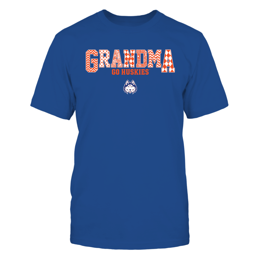 Houston Baptist Huskies - 19070910462 - Grandma - Slogan- Patterned - IF13-IC13-DS45 Front picture