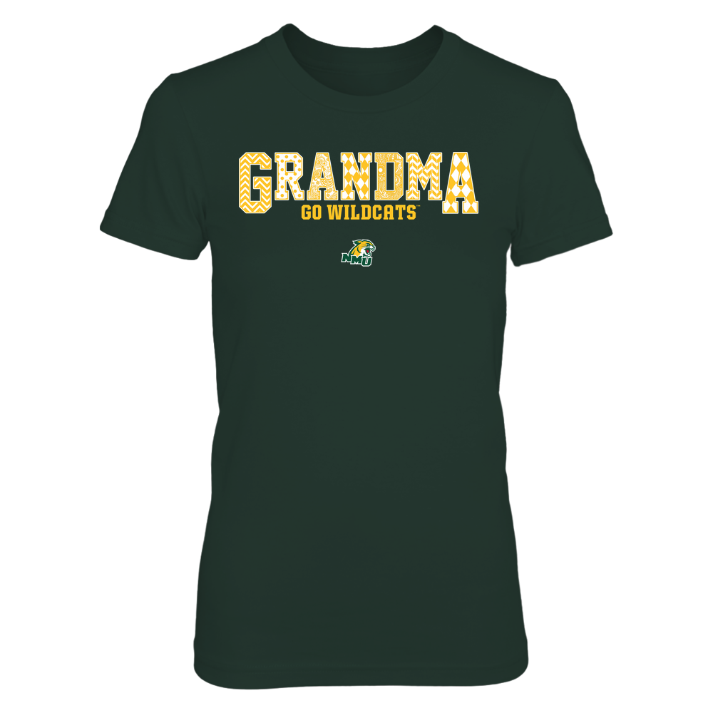 Northern Michigan Wildcats - 19070910462 - Grandma - Slogan- Patterned - IF13-IC13-DS45 Front picture