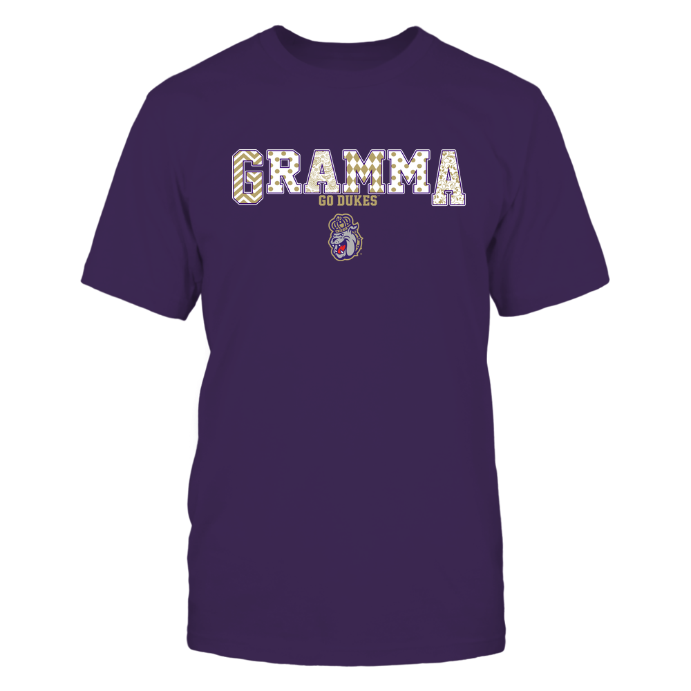 James Madison Dukes - 19070910468 - Gramma - Slogan- Patterned - IF13-IC13-DS75 Front picture