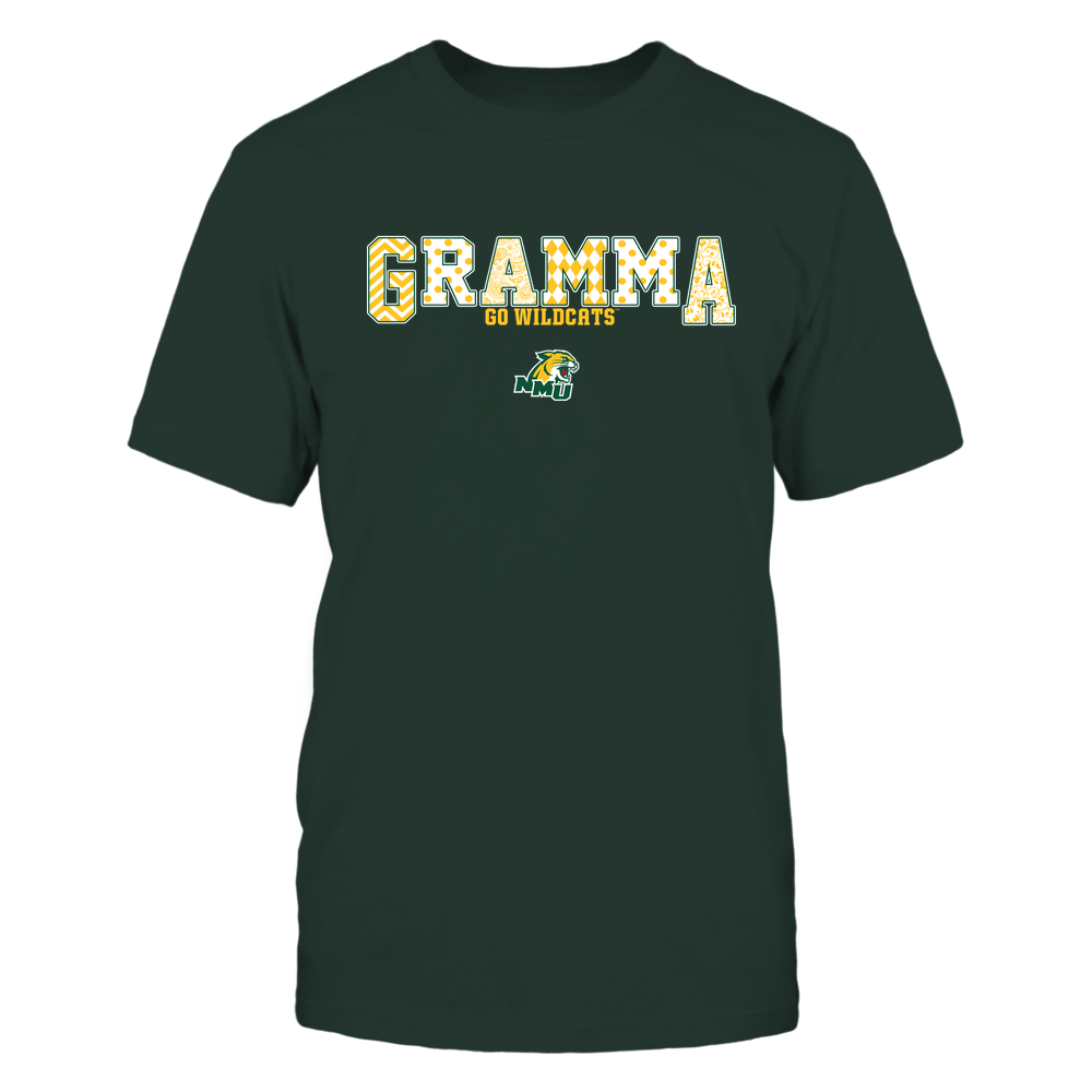 Northern Michigan Wildcats - 19070910468 - Gramma - Slogan- Patterned - IF13-IC13-DS75 Front picture