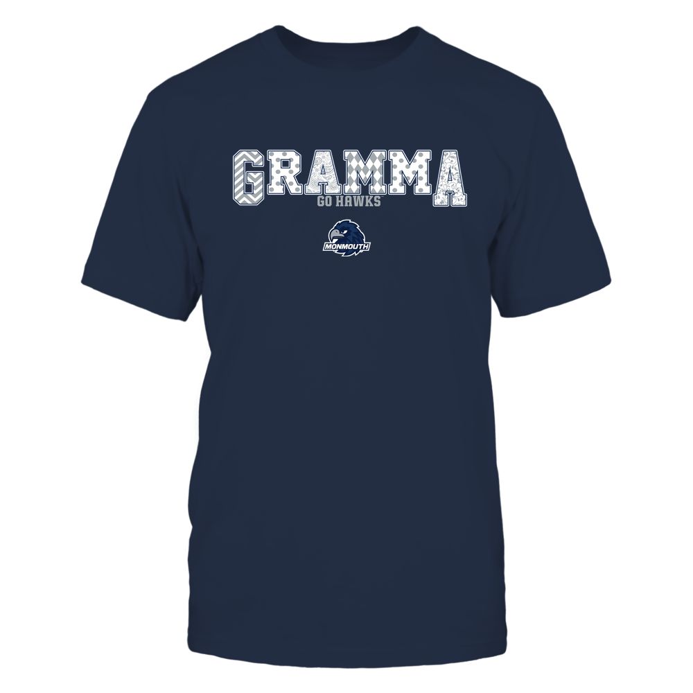 Monmouth Hawks - 19070910468 - Gramma - Slogan- Patterned - IF13-IC13-DS75 Front picture
