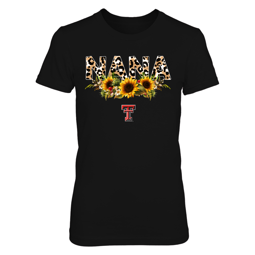 Texas Tech Red Raiders - Nana - Leopard And Sunflower - IF13-IC13-DS63 Front picture