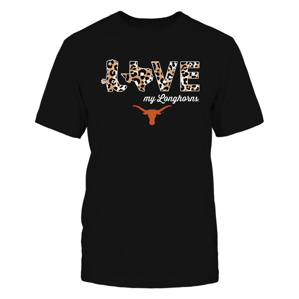 Texas Longhorns - Love My Team - Leopard Pattern Boot - IF13-IC13-DS64 Front picture