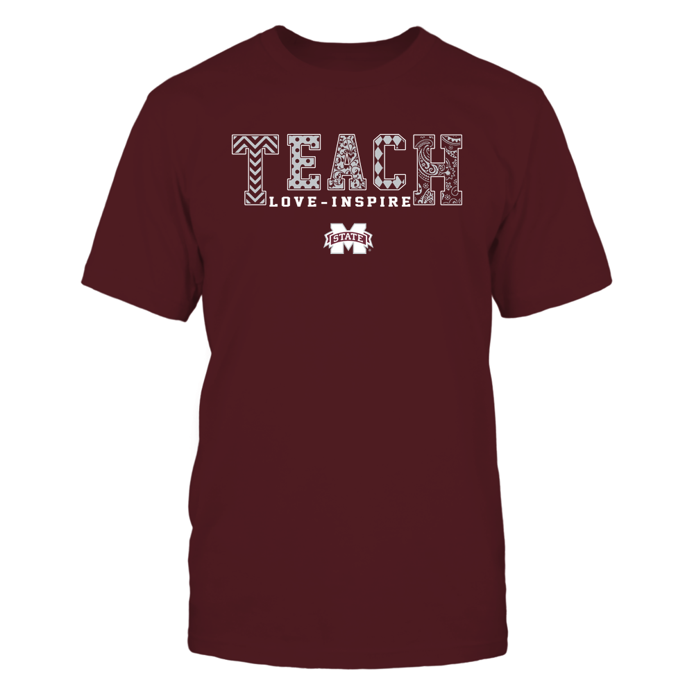 Mississippi State Bulldogs - 19082210336 - Teach Love Inspire - Slogan Pattern - IF17-IC17-DS27 - APCX Front picture