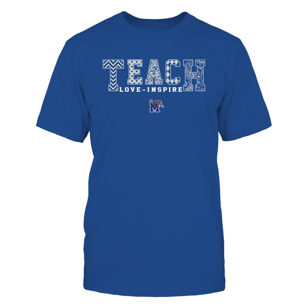 Memphis Tigers - 19082210336 - Teach Love Inspire - Slogan Pattern - IF17-IC17-DS27 Front picture
