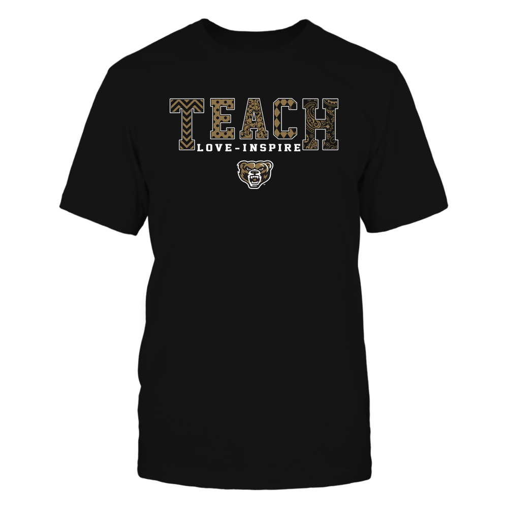 Oakland Golden Grizzlies - 19082210336 - Teach Love Inspire - Slogan Pattern - IF17-IC17-DS27 Front picture