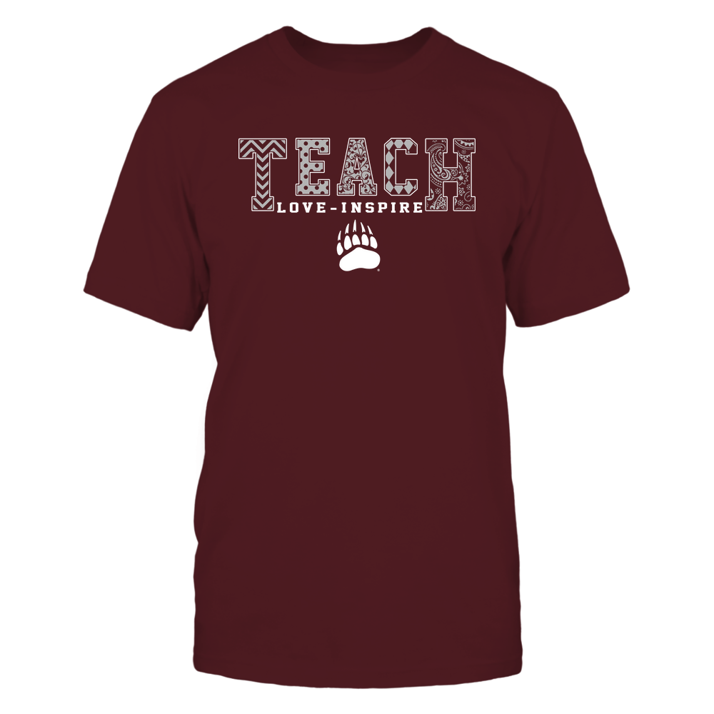 Montana Grizzlies - 19082210336 - Teach Love Inspire - Slogan Pattern - IF17-IC17-DS27 Front picture