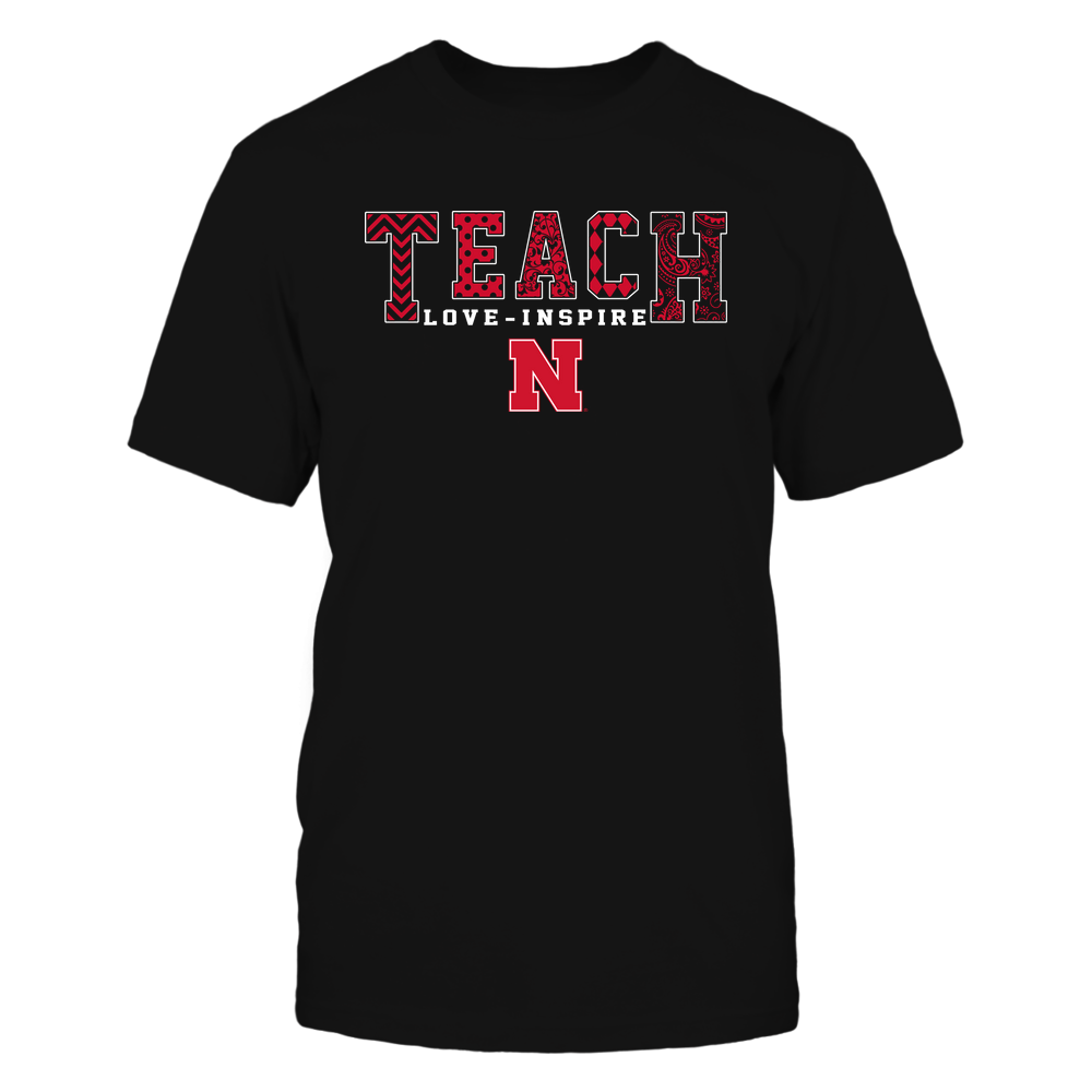 Nebraska Cornhuskers - 19082210336 - Teach Love Inspire - Slogan Pattern - IF17-IC17-DS27 Front picture