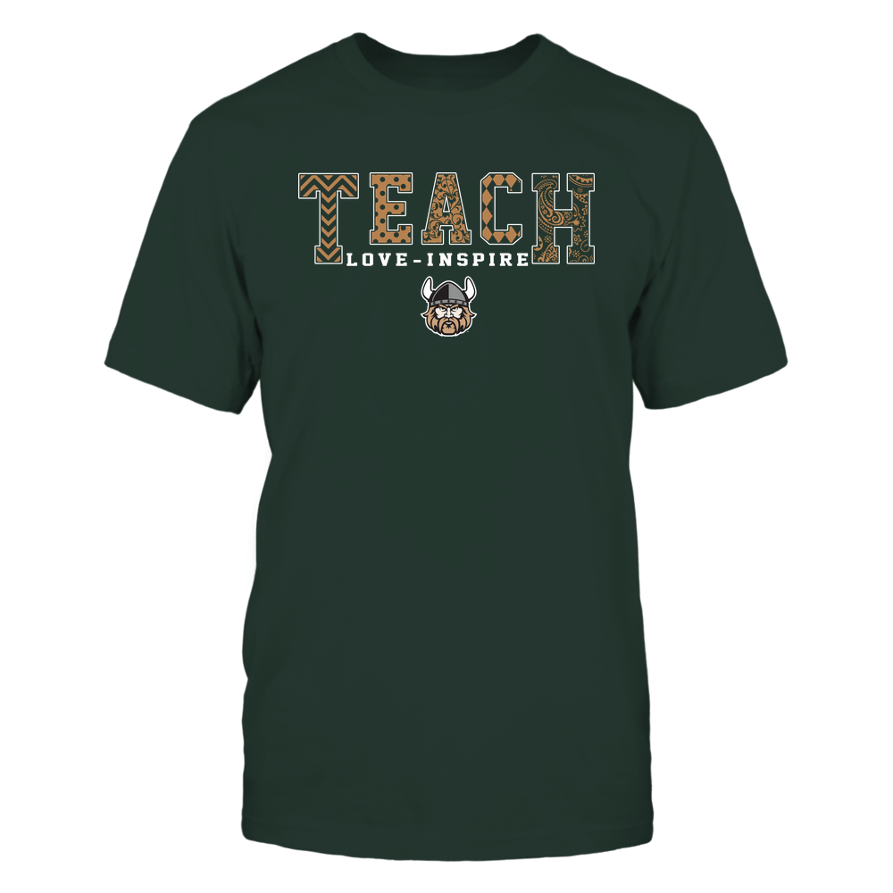 Cleveland State Vikings - 19082210336 - Teach Love Inspire - Slogan Pattern - IF17-IC17-DS27 - APCX Front picture