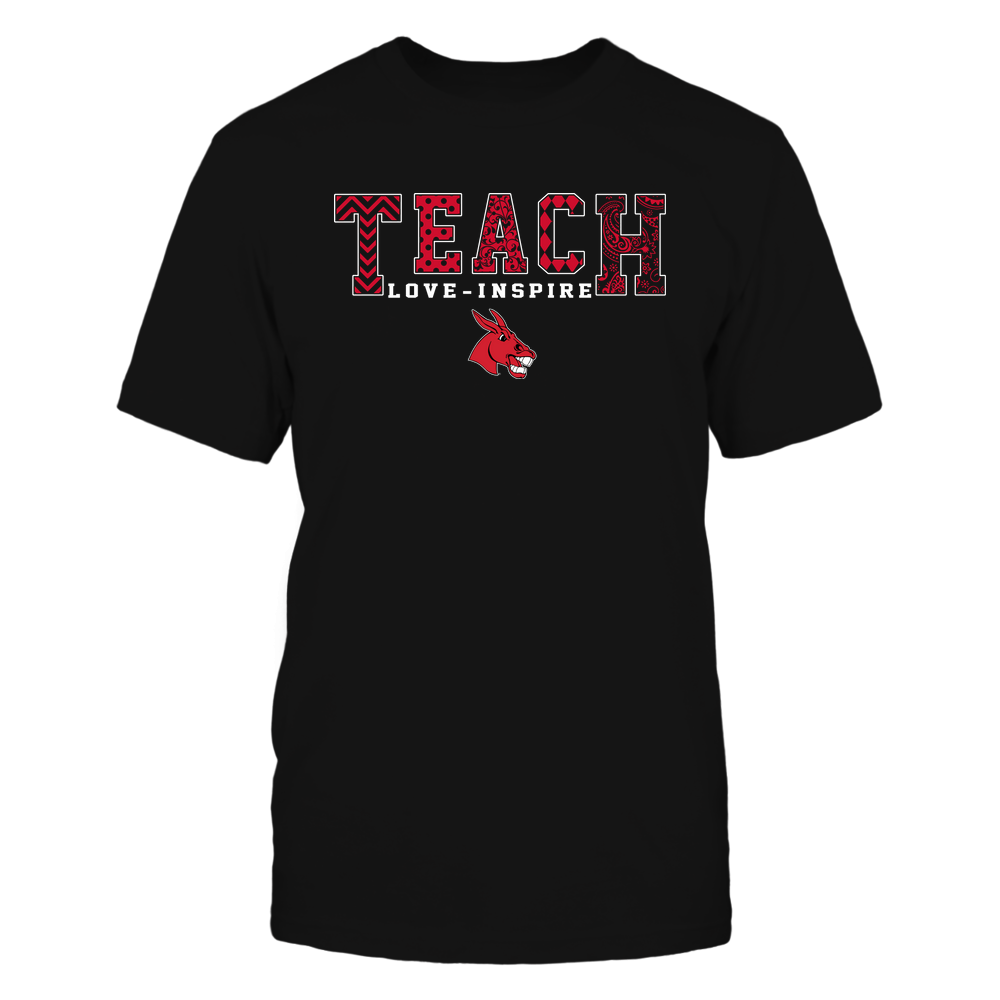 Central Missouri Mules - 19082210336 - Teach Love Inspire - Slogan Pattern - IF17-IC17-DS27 Front picture