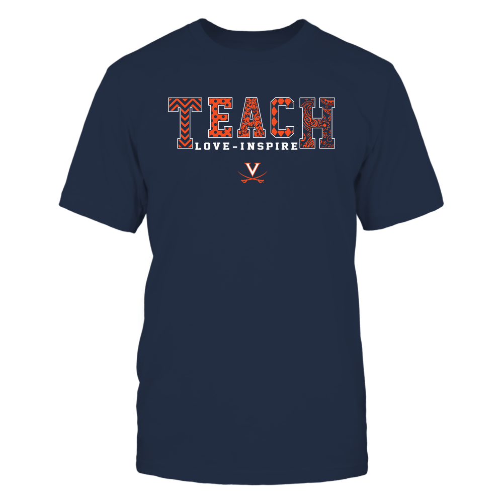 Virginia Cavaliers - 19082210336 - Teach Love Inspire - Slogan Pattern - IF17-IC17-DS27 Front picture
