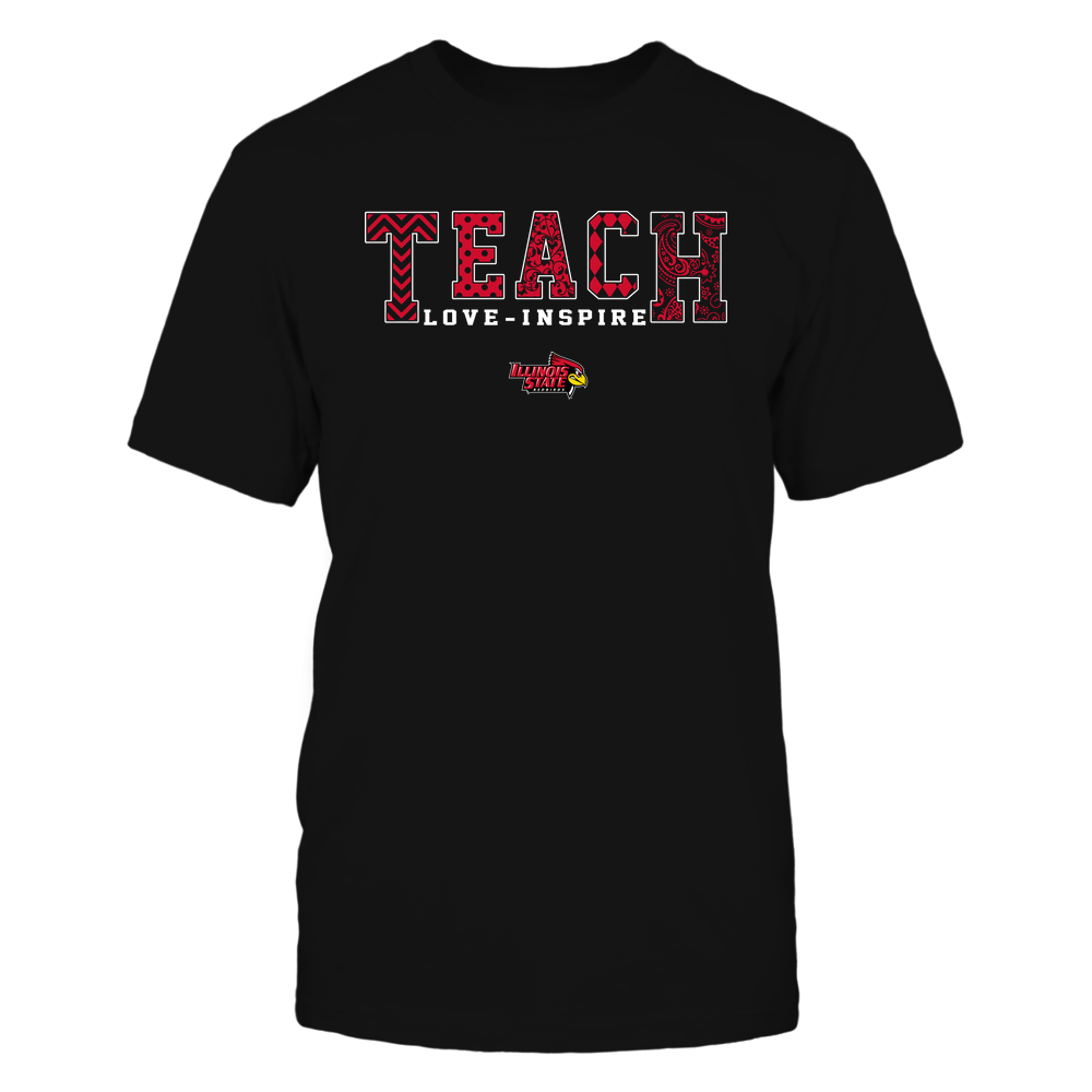 Illinois State Redbirds - 19082210336 - Teach Love Inspire - Slogan Pattern - IF17-IC17-DS27 Front picture