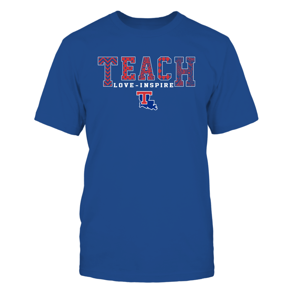 Louisiana Tech Bulldogs - 19082210336 - Teach Love Inspire - Slogan Pattern - IF17-IC17-DS27 - APCX Front picture