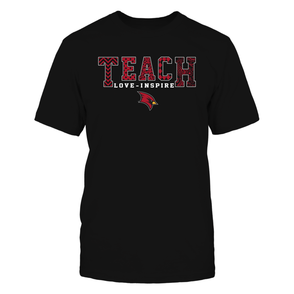 Saginaw Valley State Cardinals - 19082210336 - Teach Love Inspire - Slogan Pattern - IF17-IC17-DS27 Front picture