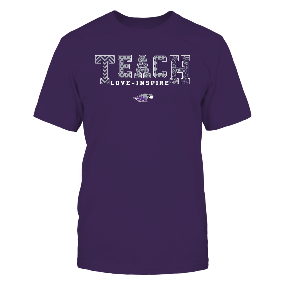Wisconsin-Whitewater Warhawks - 19082210336 - Teach Love Inspire - Slogan Pattern - IF17-IC17-DS27 Front picture