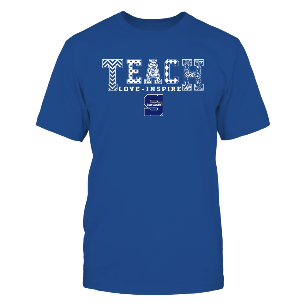 Wisconsin Stout Blue Devils - 19082210336 - Teach Love Inspire - Slogan Pattern - IF17-IC17-DS27 - APCX Front picture