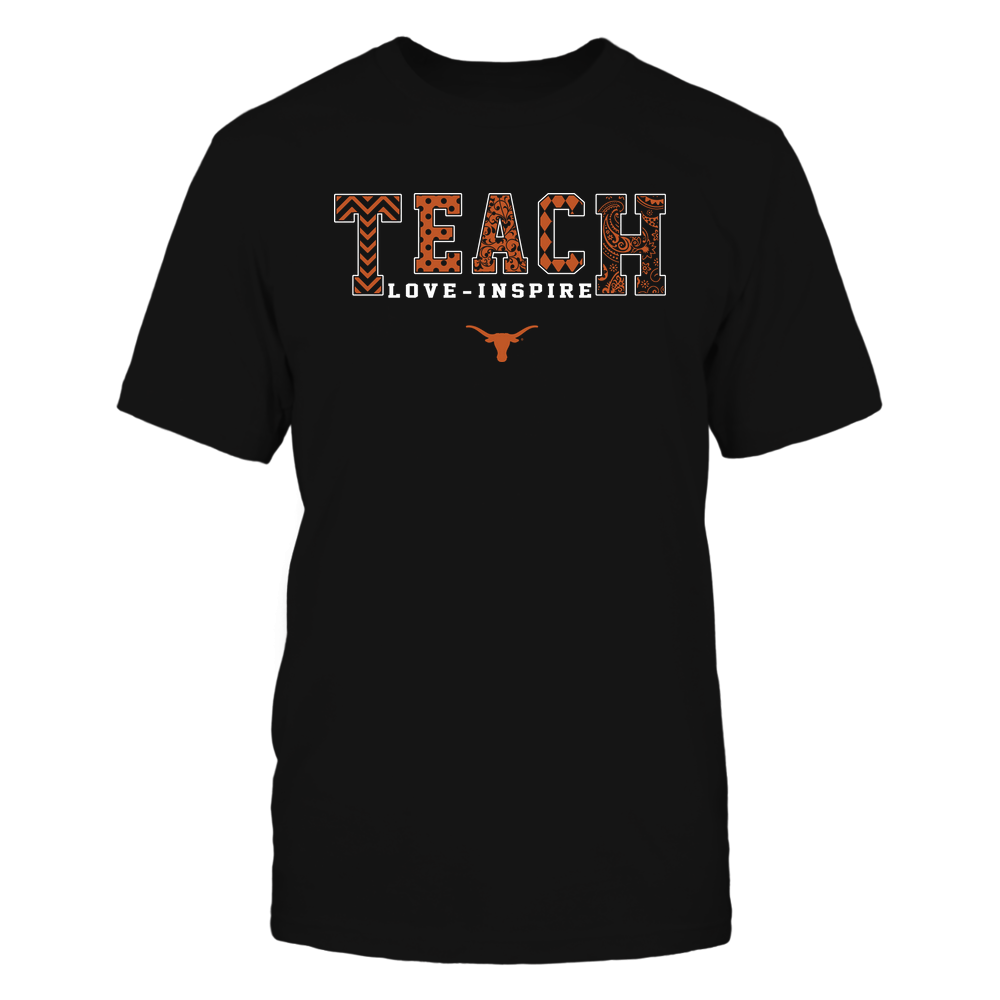Texas Longhorns - 19082210336 - Teach Love Inspire - Slogan Pattern - IF17-IC17-DS27 - APCX Front picture