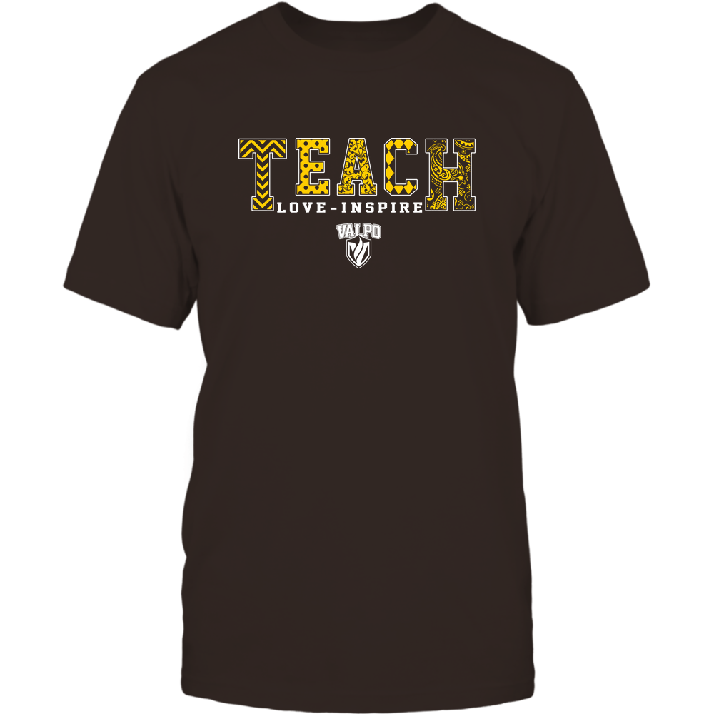 Valparaiso Crusaders - 19082210336 - Teach Love Inspire - Slogan Pattern - IF17-IC17-DS27 - APCX Front picture