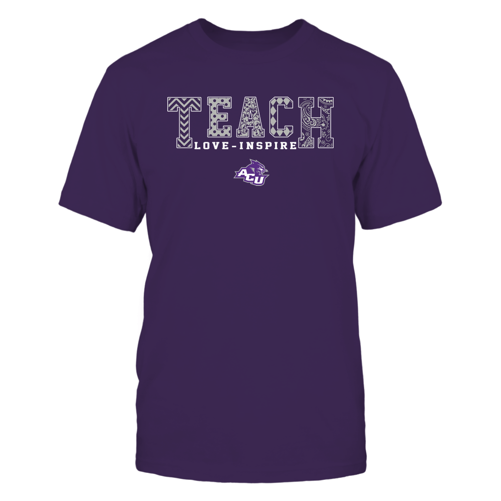 Abilene Christian Wildcats - 19082210336 - Teach Love Inspire - Slogan Pattern - IF17-IC17-DS27 Front picture