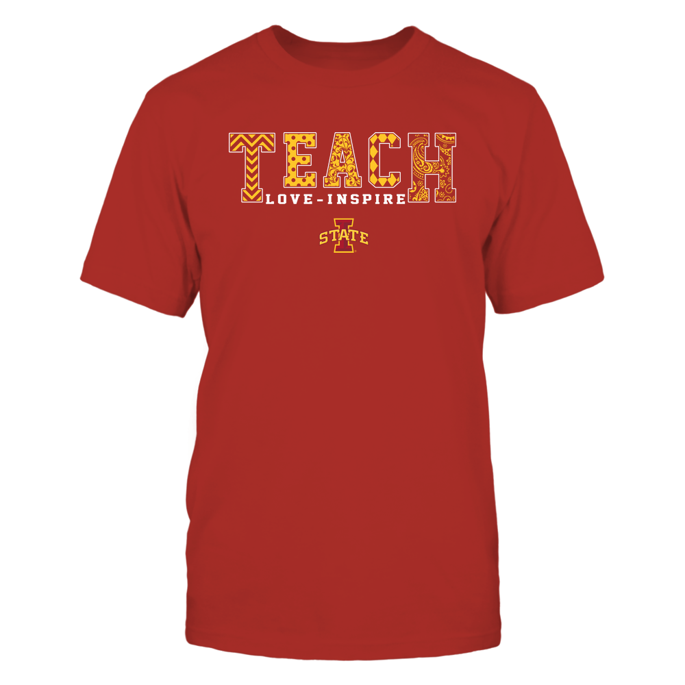 Iowa State Cyclones - 19082210336 - Teach Love Inspire - Slogan Pattern - IF17-IC17-DS27 Front picture