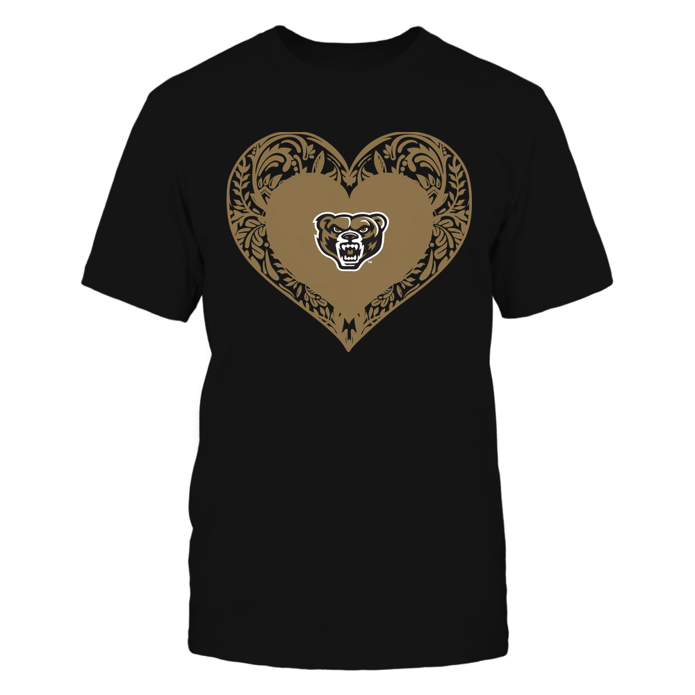 Oakland Golden Grizzlies - Floral Patterned Heart - Logo - Team Front picture