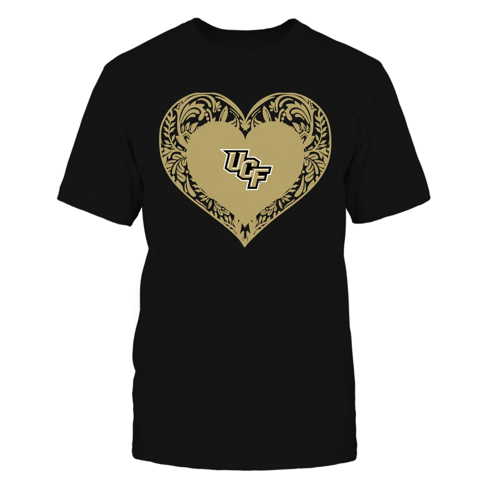 UCF Knights - Floral Patterned Heart - Logo - Team Front picture