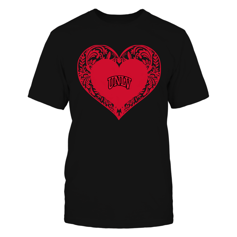 UNLV Rebels - Floral Patterned Heart - Logo - Team Front picture