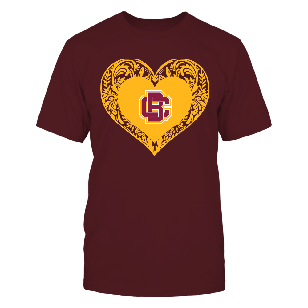Bethune-Cookman Wildcats - Floral Patterned Heart - Logo - Team Front picture
