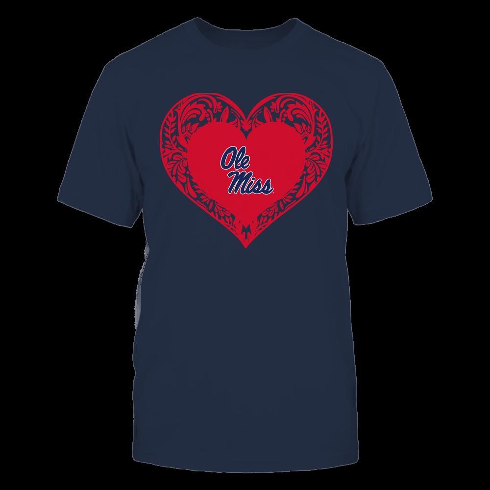 Ole Miss Rebels - Floral Patterned Heart - Logo - Team Front picture