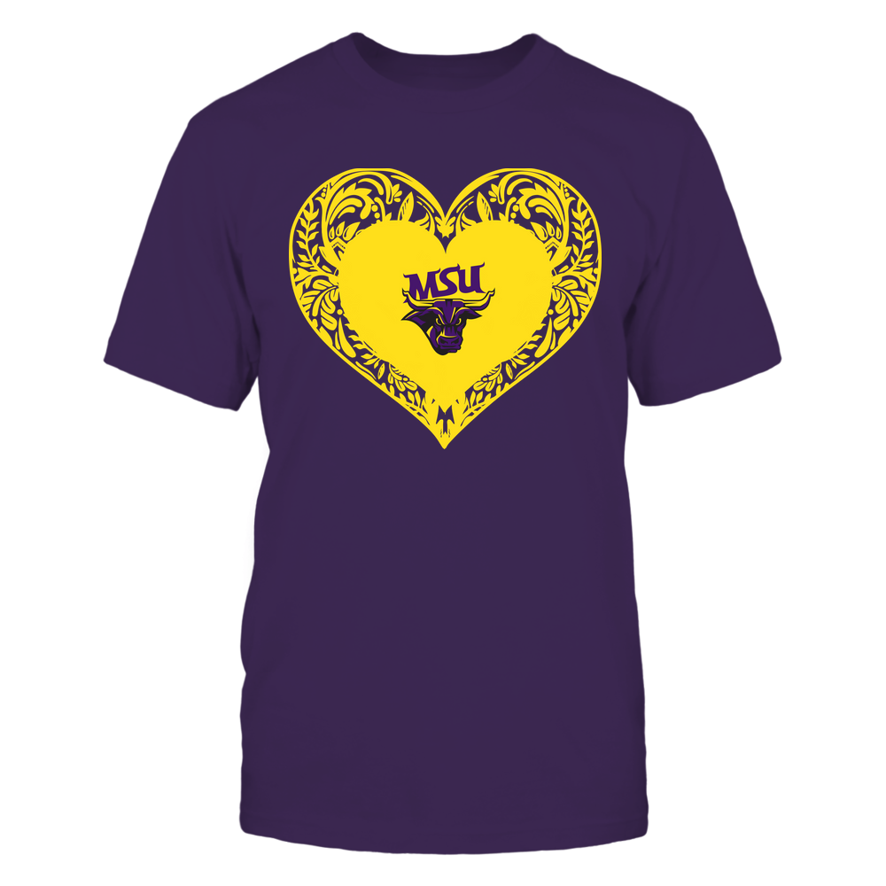 Minnesota State Mavericks - Floral Patterned Heart - Logo - Team Front picture