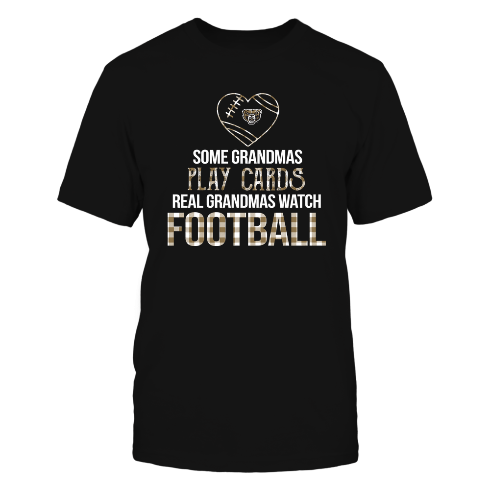 Oakland Golden Grizzlies - Real Grandmas Watch Football - Cards Front picture