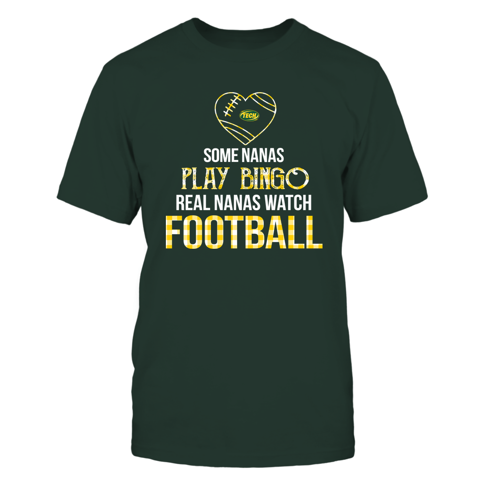 Arkansas Tech Golden Suns - Real Nanas Watch Football - Bingo Front picture