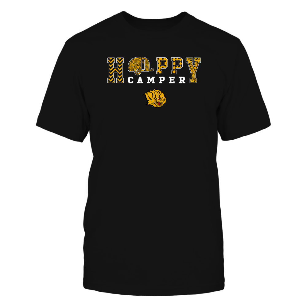 Arkansas Pine Bluff Golden Lions - Camping - Happy Camper Patterned Front picture