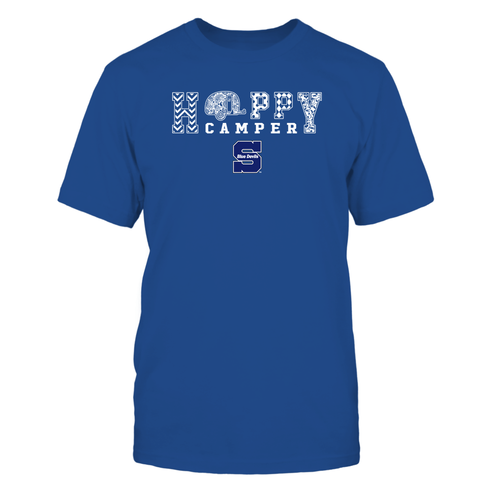 Wisconsin Stout Blue Devils - Camping - Happy Camper Patterned Front picture