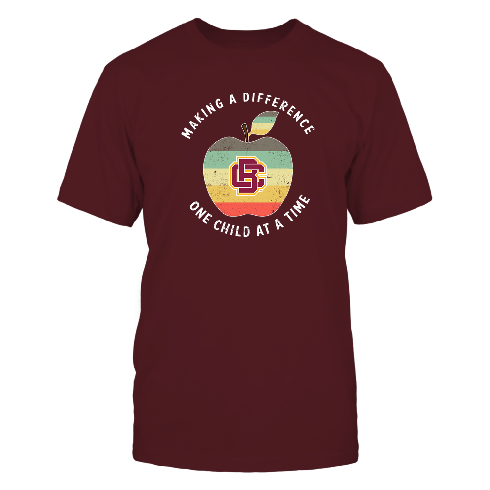 Bethune-Cookman Wildcats - Teacher - Difference Maker Apple Vintage Graphic Front picture