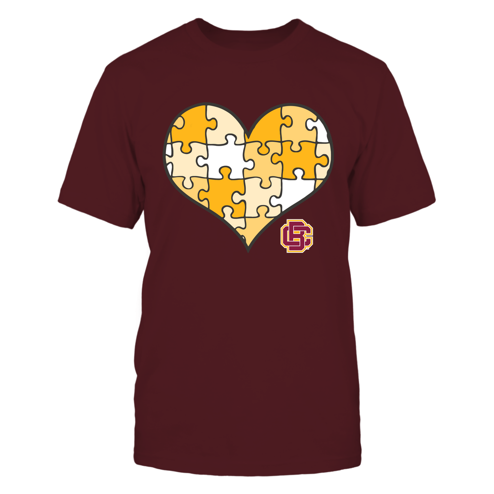 Bethune-Cookman Wildcats - Puzzles Heart - Vintage Graphic Front picture