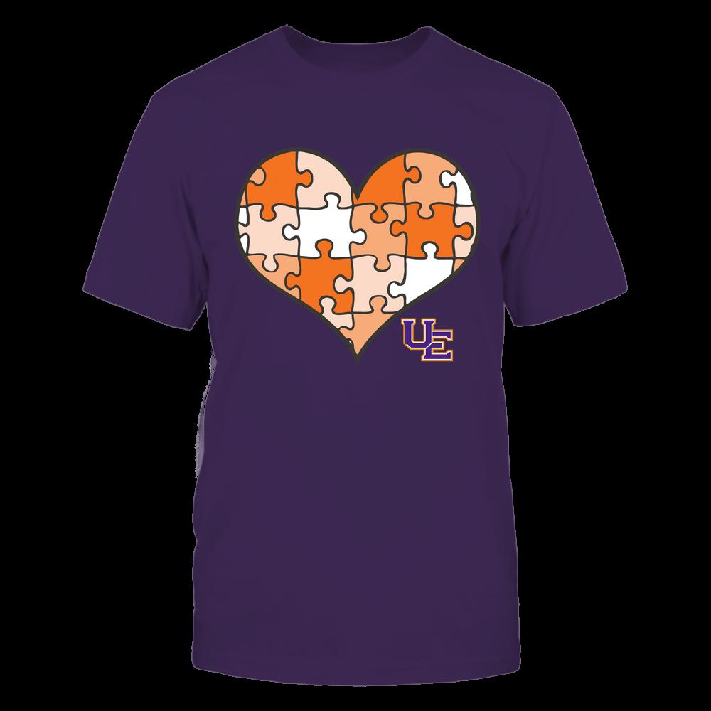 Evansville Purple Aces - Puzzles Heart - Vintage Graphic Front picture