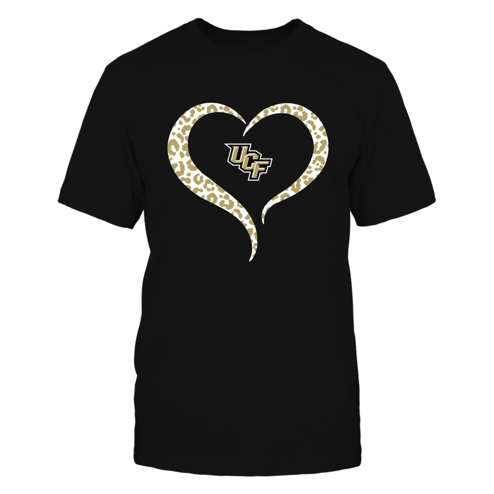 UCF Knights - Half Heart - Leopard Pattern Front picture