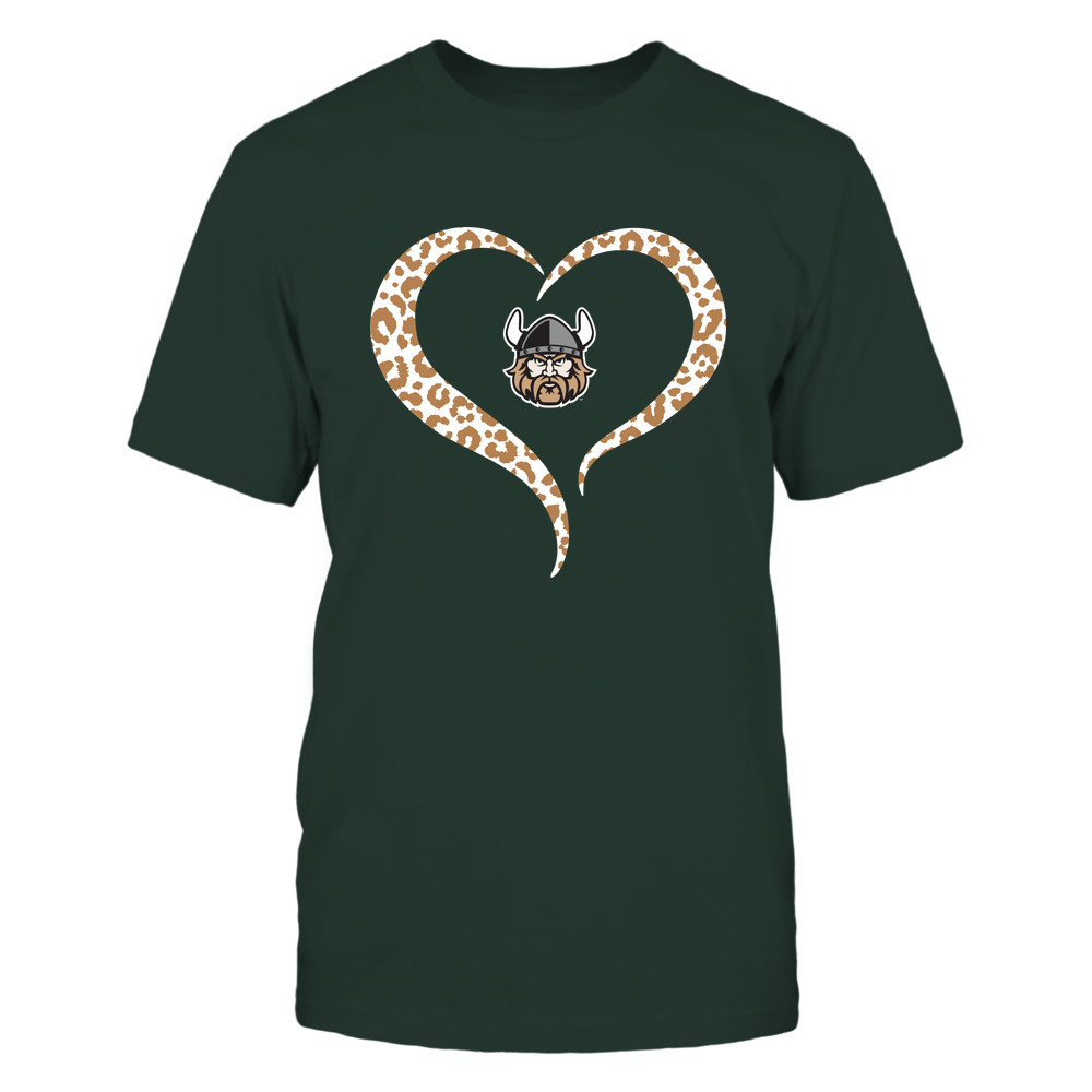 Cleveland State Vikings - Half Heart - Leopard Pattern Front picture
