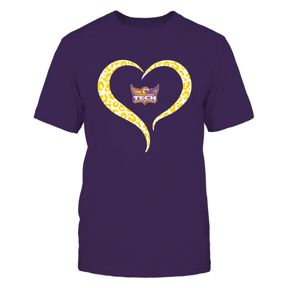 Tennessee Tech Golden Eagles - Half Heart - Leopard Pattern Front picture