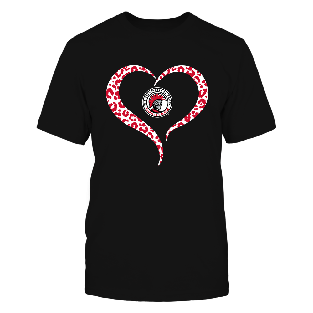 Tampa Spartans - Half Heart - Leopard Pattern Front picture
