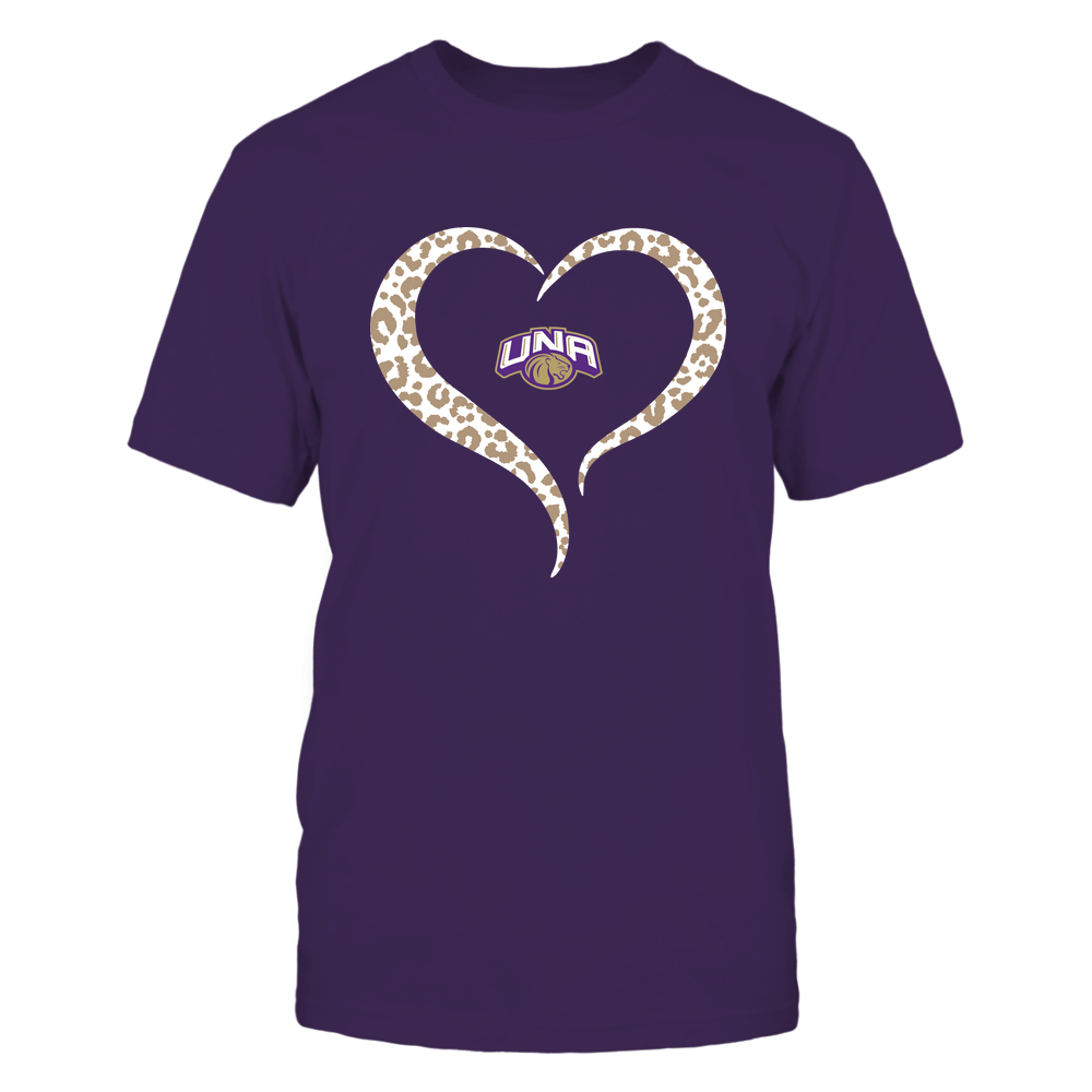 North Alabama Lions - Half Heart - Leopard Pattern Front picture